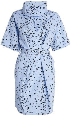 Kenzo Leopard Print Shirt Dress
