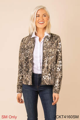 Simply Noelle Chino Snake Print Jacket