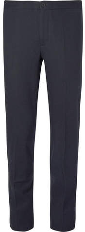 Incotex Slim-fit Flannel Trousers - Navy