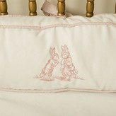 The Well Appointed House Petite Moi Bunnies Embroidered Four Piece Crib Bedding Set In Pink