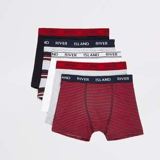 River Island Boys Red Stripe RI boxers 5 pack