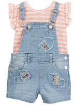 Jessica Simpson Top & Overall Short Set (Baby Girls)
