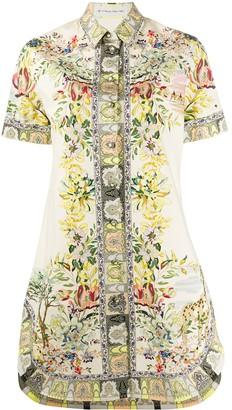 Etro Floral Print Shirt Dress