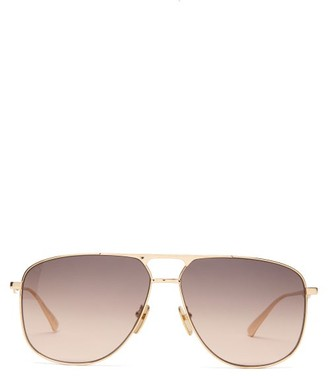 Gucci Aviator Metal Sunglasses - Brown Gold