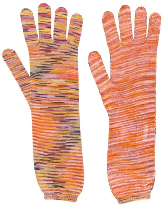 Missoni intarsia knit gloves