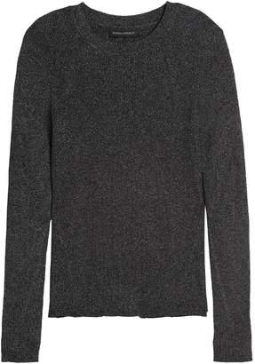 Banana Republic Petite Metallic Sweater Top