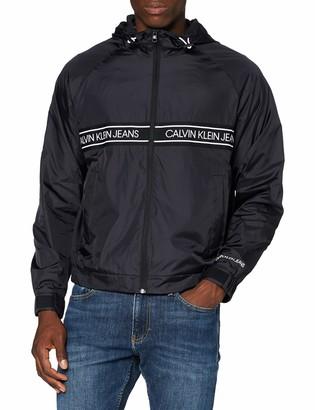 Calvin Klein Jeans Men's Nylon Logo Tape Jacket