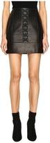 Neil Barrett Laced Nappa Plonge Pencil Skirt Women's Skirt