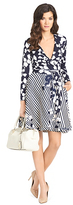 Diane von Furstenberg Amelia Silk Combo Flared Wrap Dress