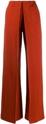 Aalto wide-leg pleated detail trousers