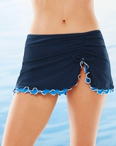 Soma Intimates Blue Lagoon Skirted Hipster Swim Bottom