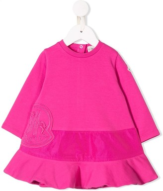 Moncler Enfant Embroidered Logo Dress