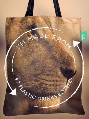 BBC Earth Recycled Plastic Lion Tote Bag