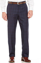 Hart Schaffner Marx Straight-Fit Flat Front Windowpane Pants