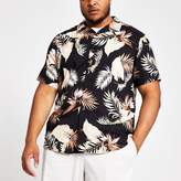 Mens Only & Sons Big and Tall Black printed shirt