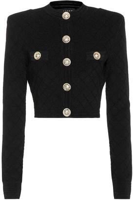 Balmain Cropped knit jacket