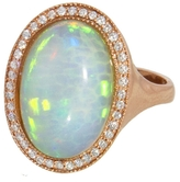 Jacquie Aiche Diamond Border Opal Ring - Rose Gold
