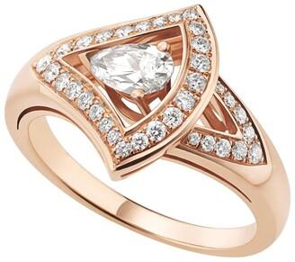 Bvlgari Rose Gold and Diamond Divas' Dream Ring