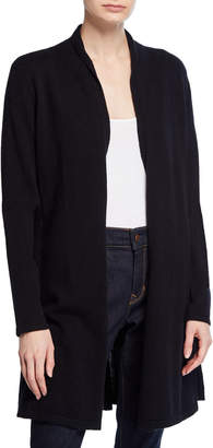 Neiman Marcus Cashmere Open-Front Fit-and-Flare Cardigan