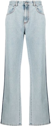 Alexander McQueen Side Stripe Straight Jeans