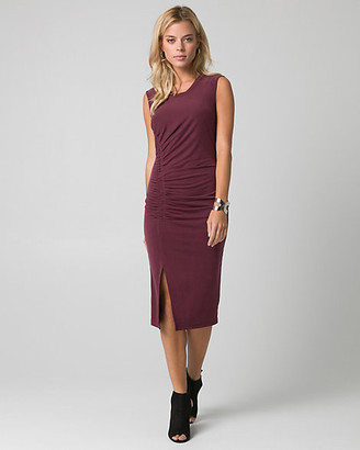 Le Château Brushed Jersey Crew Neck Ruched Dress