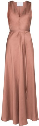 BONDI BORN Tie-Waist Maxi Dress