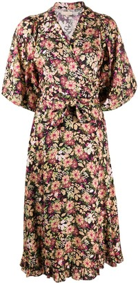 By Ti Mo Floral Print Midi Dress