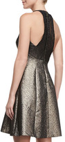 Phoebe by Kay Unger Halter Fit-&-Flare Breaded Dress