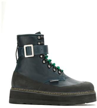 À La Garçonne Leather Combat Boots