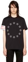 Givenchy Black Circle Stars T-Shirt