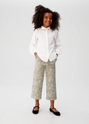 MANGO Collar appliques flowy shirt