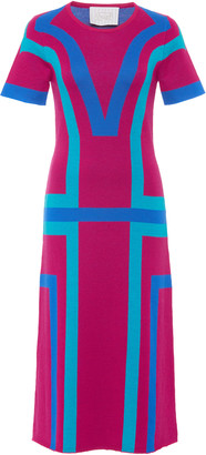 Victor Glemaud Color-Block Merino Wool Dress