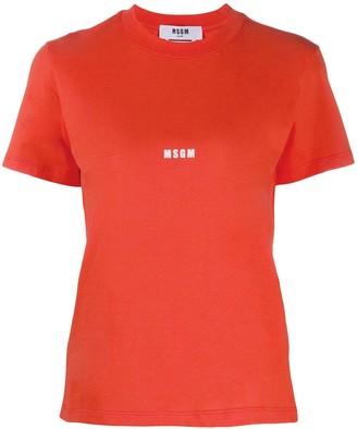 MSGM logo print cotton T-shirt