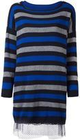 Twin-Set striped maxi pullover dress