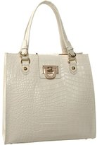 Croc-Embossed N/S Shopper Tote