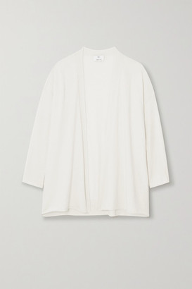 Allude Cotton And Cashmere-blend Cardigan - Cream