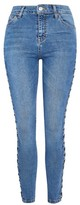 Topshop TALL Side Lace Denim Jamie Jeans