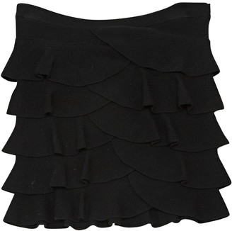 Plein Sud Jeans Black Wool Skirt for Women