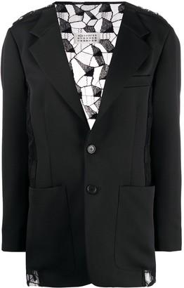 Maison Margiela lace-back blazer