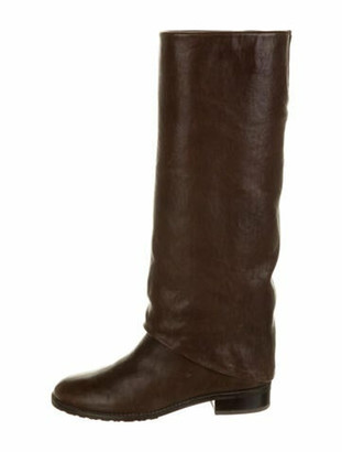 Stuart Weitzman Leather Riding Boots Brown