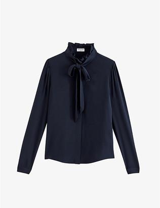Claudie Pierlot Tie-collar silk blouse