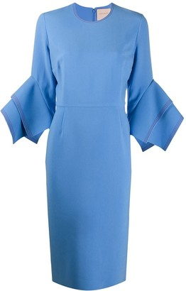 Roksanda Frilled Crew Neck Dress