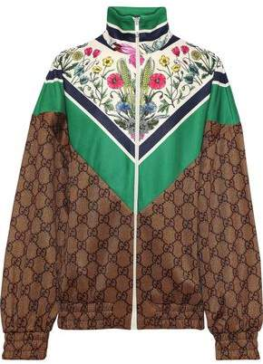 Gucci Oversized Printed Crepe Jacket
