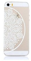 Qissy® TPU Pure flowers Pattern Silicone Case Back Cover Skin Protector for iPhone 5/5S/SE
