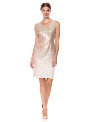 Calvin Klein Women's Sleeveless V-Neck Sequin Cocktail Dress