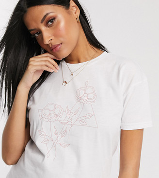 Wednesday's Girl Maternity relaxed t-shirt with abstract flower graphic