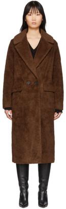 The Loom Brown Wool Faux-Fur Double Coat