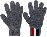 Moncler logo gloves