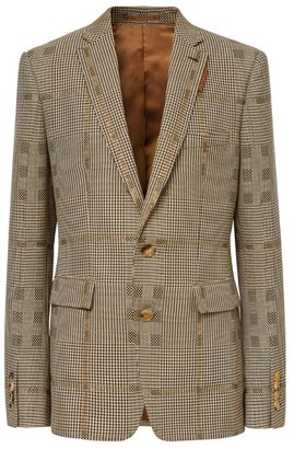 Burberry Metallic Check Single-Breasted Jacket