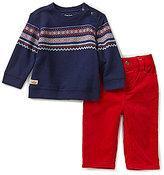 Ralph Lauren Baby Boys 3-24 Months Fair Isle Printed Fleece Sweatshirt & Corduroy Pant